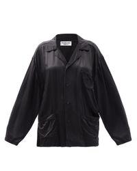 Balenciaga オーバーサイズ サテンシャツ Black