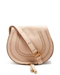 Chloé Pink Marcie Medium Leather Cross Body Bag