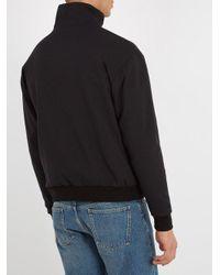 Balenciaga Black High-neck Zip-through Track Top for men