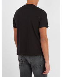 T-shirt en jersey de coton à logo imprimé Balenciaga pour homme en coloris Black