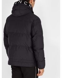 Givenchy Multicolor Logo Embroidered Hooded Technical Parka for men