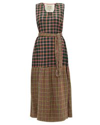 Ace & Jig Multicolor Julien Belted Checked Cotton Dress