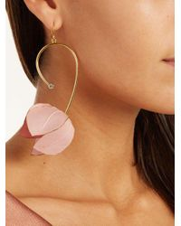 Marni - Pink Flower Drop Earrings - Lyst
