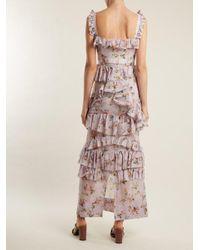 Brock Collection Multicolor Darwin Floral-print Cotton-voile Dress
