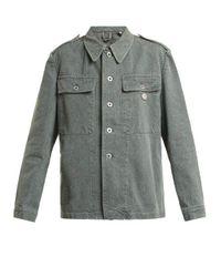 MYAR - Multicolor - Oversized Denim Army Jacket - Womens - Grey - Lyst