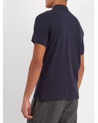 Sunspel Blue Short-sleeved Cotton-piqué Polo Shirt for men