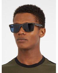 Prada - Black Rectangle-frame Acetate Sunglasses for Men - Lyst