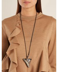 Givenchy - Metallic Shark's-tooth Necklace - Lyst