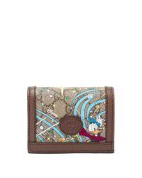 Gucci X Disney ドナルドダック GGスプリームキャンバスウォレット Multicolor