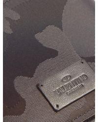 Valentino - Black Rockstud Embellished Camouflage-print Wallet for Men - Lyst