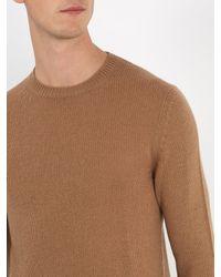 Prada Brown Crew-neck Cashmere Sweater for men