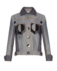 Thomas Tait Gray Patchwork Denim Jacket