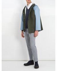 Prada Blue V-neck Wool Sweater for men