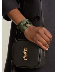 Saint Laurent - Multicolor Wraparound Silk Bracelet for Men - Lyst