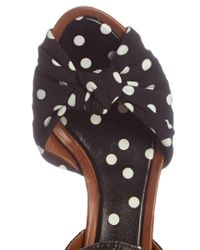 Dolce & Gabbana Multicolor Polka-dot Print Knotted-front And Raffia Sandals
