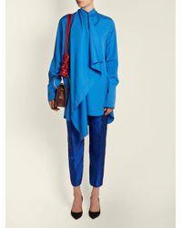 Roksanda - Blue Akano Asymmetric Poplin Shirt - Lyst