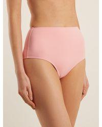 Ephemera Pink High Rise Bikini Briefs