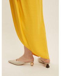 Jacquemus Natural Ornamental-heel Suede Mules
