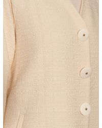 Adam Lippes Natural Single Breasted Cotton Coat