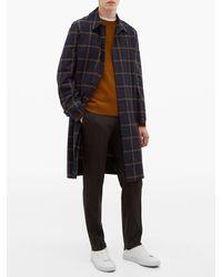 Pantalon ajusté en laine mélangée Incotex pour homme en coloris Gray