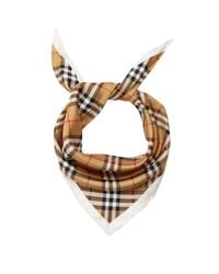 Burberry - Multicolor House Checked Silk Scarf - Lyst