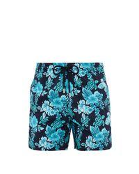 Short de bain à imprimé tropical Moorise Vilebrequin pour homme en coloris Blue
