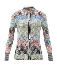 Missoni アブストラクトジャカード ニットシャツ Multicolor