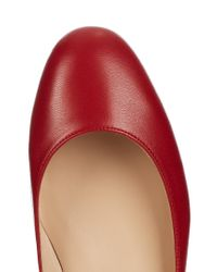 Valentino Red Tan-go Leather Flats