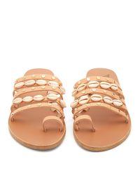 Ancient Greek Sandals Multicolor Niki Metallic Seashell Slide Sandals