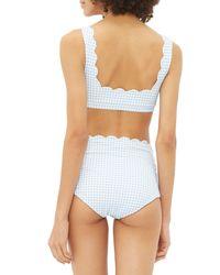 Bas de bikini à motif vichy Palm Springs Marysia Swim en coloris Blue