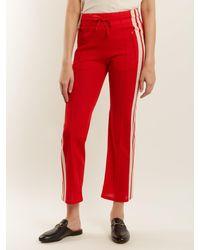 Étoile Isabel Marant Red Dobbs Stripe Trimmed Track Pants