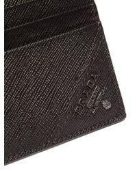 Prada - Men's Black Logo Card Case - Black for Men - Lyst
