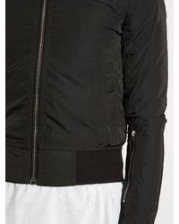 Rick Owens - Black Sleeve-pocket Bomber Jacket for Men - Lyst