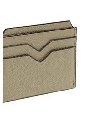 Valextra Natural Grained Leather Cardholder for men