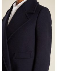 Stella McCartney - Blue Edith Double-breasted Wool-blend Coat - Lyst