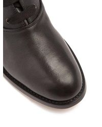 Chloé Black Otto Leather Ankle Boots