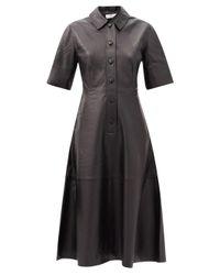 Co. レザーシャツドレス Black