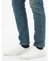 Baskets en cuir Andy Saint Laurent pour homme en coloris White