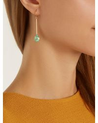 Irene Neuwirth Metallic Diamond, Emerald & Rose-gold Earring