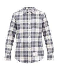 Thom Browne Multicolor Tartan Cotton-flannel Shirt for men