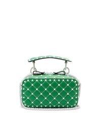 Valentino Green Free Rockstud Leather Cross-body Bag