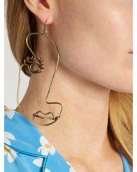 Rosie Assoulin - Metallic Half Face-drop Earring - Lyst