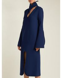 Robe midi fendue Beatification Ellery en coloris Blue