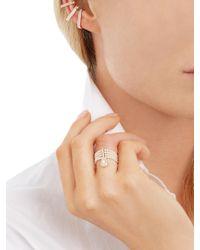 Anissa Kermiche - Multicolor Diamond & Rose-gold Ear Cuffs - Lyst