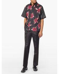 Chemise en coton à imprimé roses et éclairs Prada pour homme en coloris Multicolor