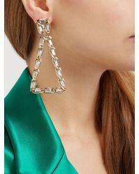 Rosantica By Michela Panero Metallic Crystal Triangle Clip Earrings