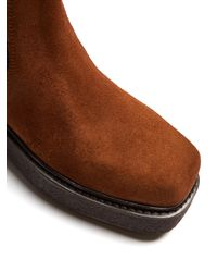 Eytys - Brown Ortega Suede Chelsea Boots - Lyst