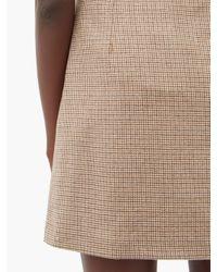 A.P.C. ソニア シェパードチェック ウールミニスカート Multicolor