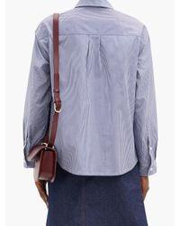 A.P.C. ボーイフレンド ストライプ コットンシャツ Blue