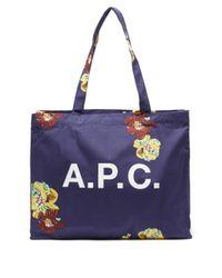 メンズ A.P.C. ディアン キャンバストートバッグ Blue